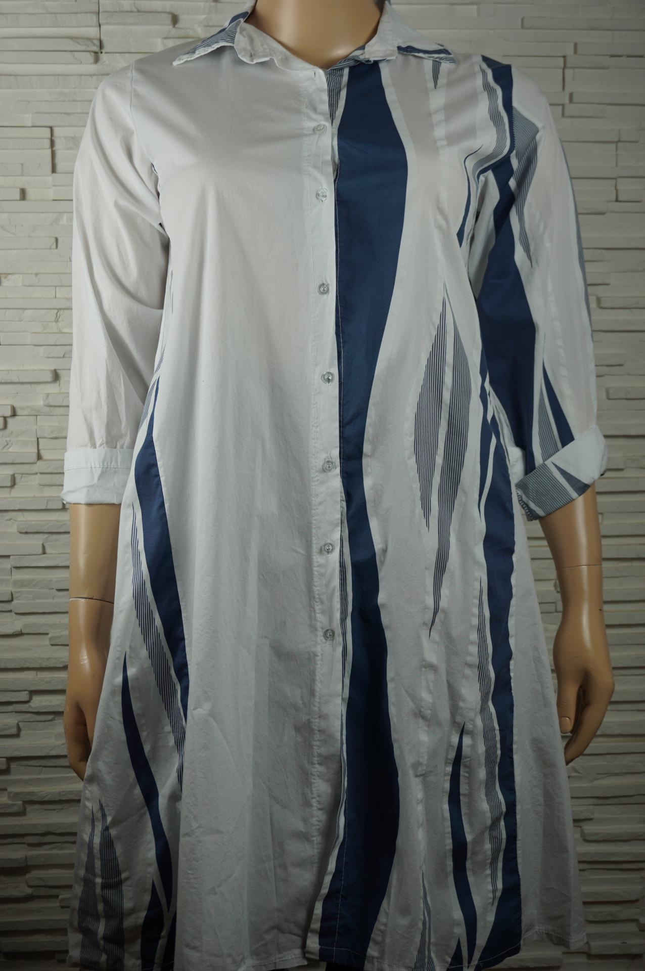 Robe chemise longue coton1