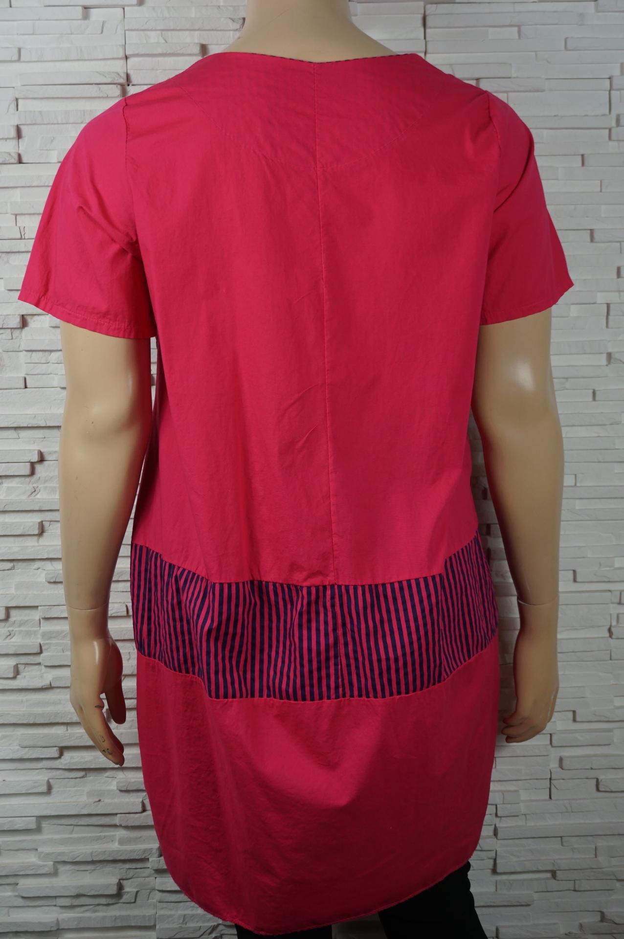 Robe coton uni rayures1