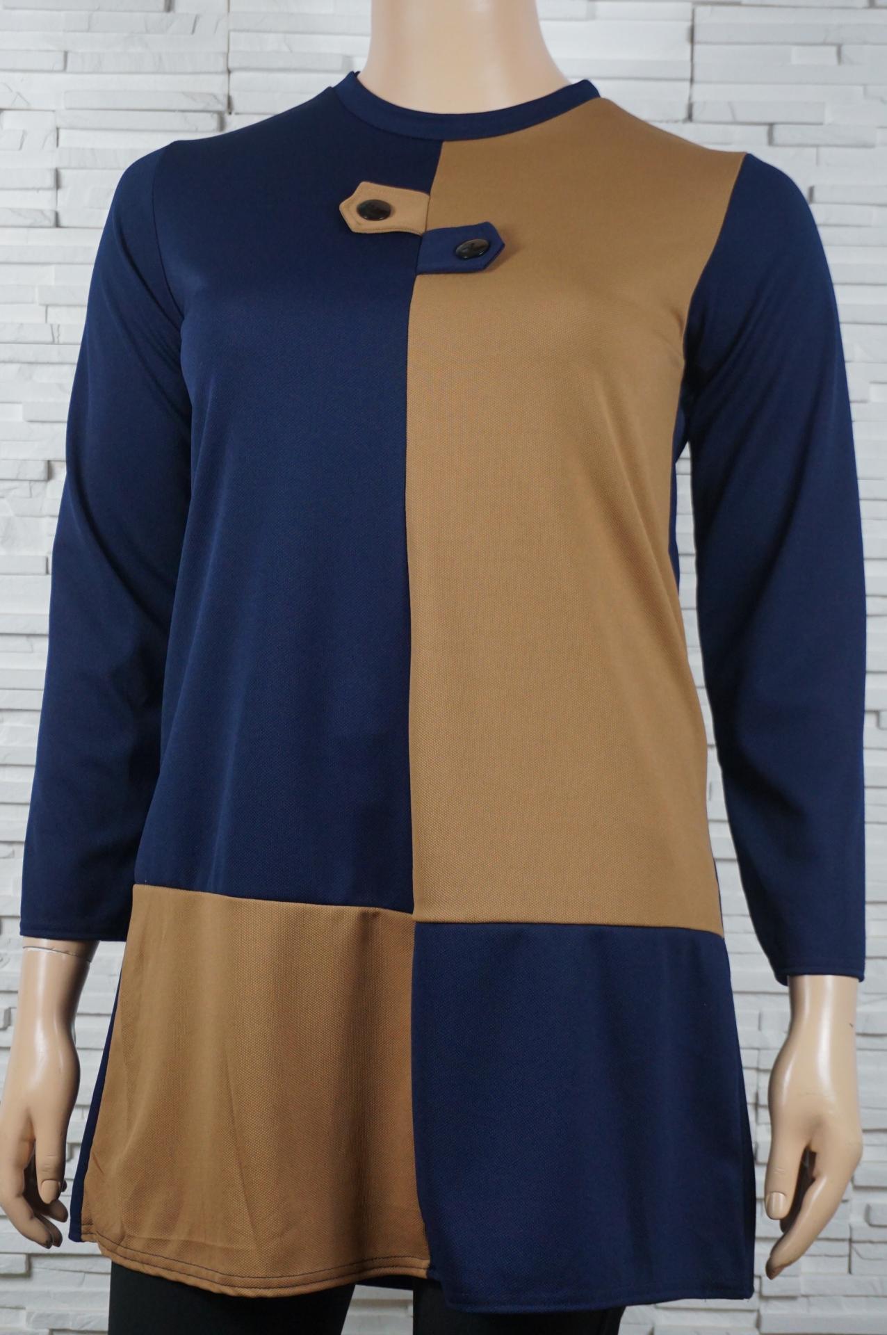 Robe droite bi couleurs1