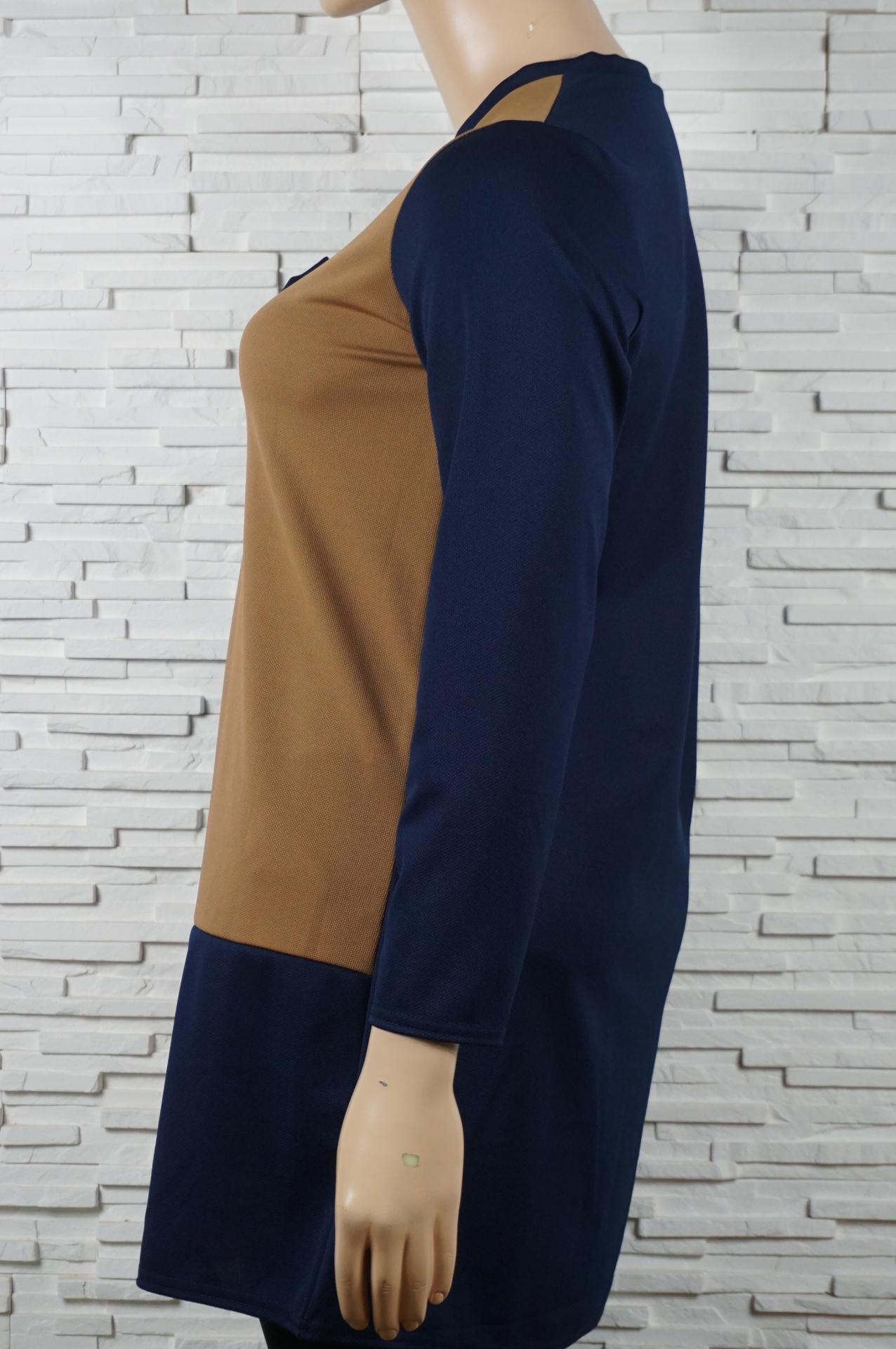 Robe droite bi couleurs2
