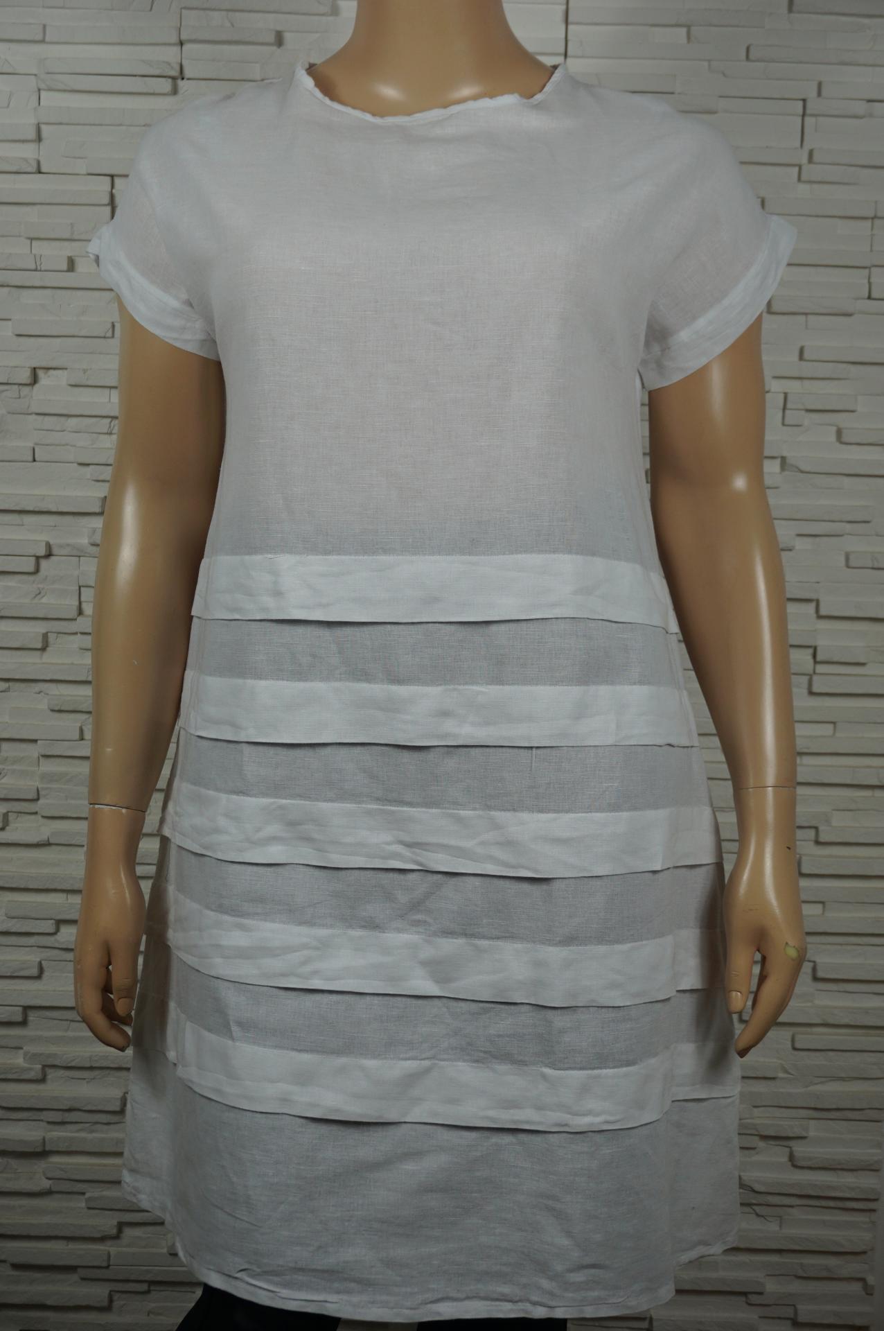 Robe lin avec bandes1