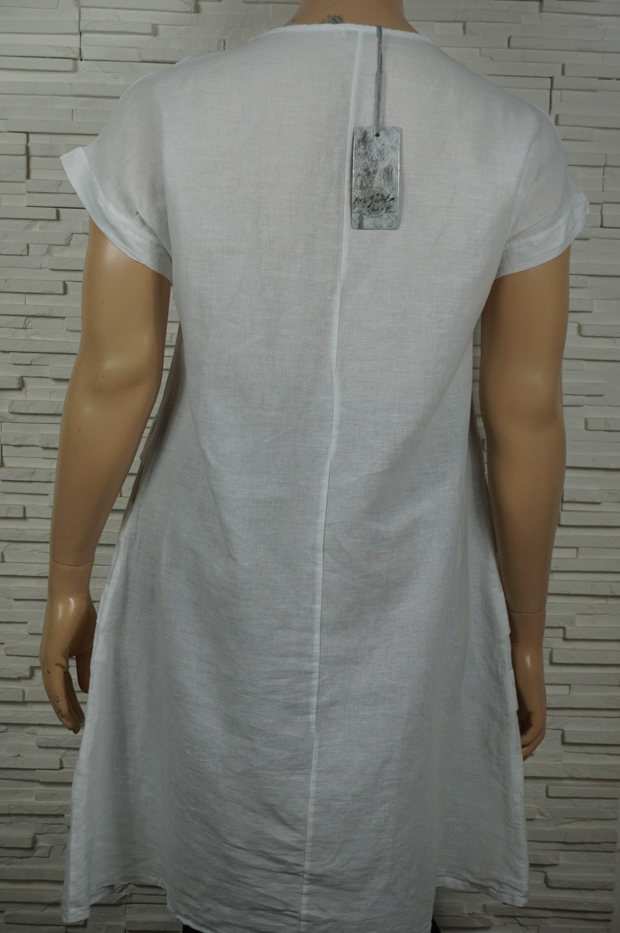 Robe lin avec bandes2
