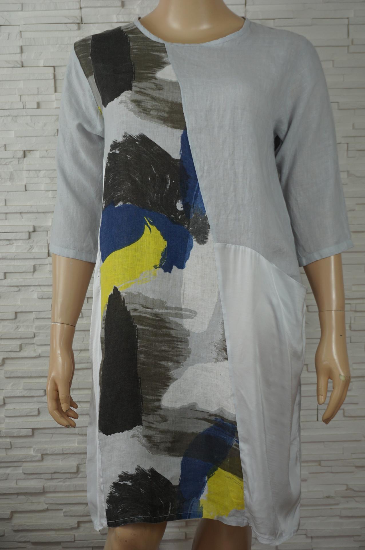 Robe lin et satin multicouleurs5
