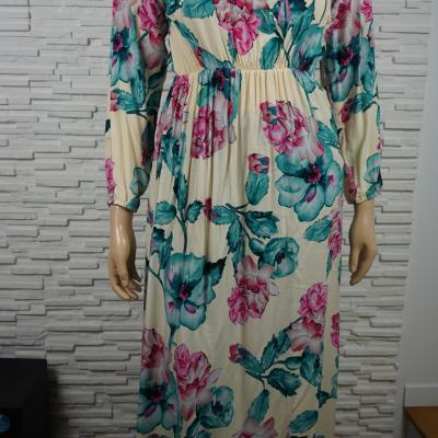 Robe longue a fleurs1