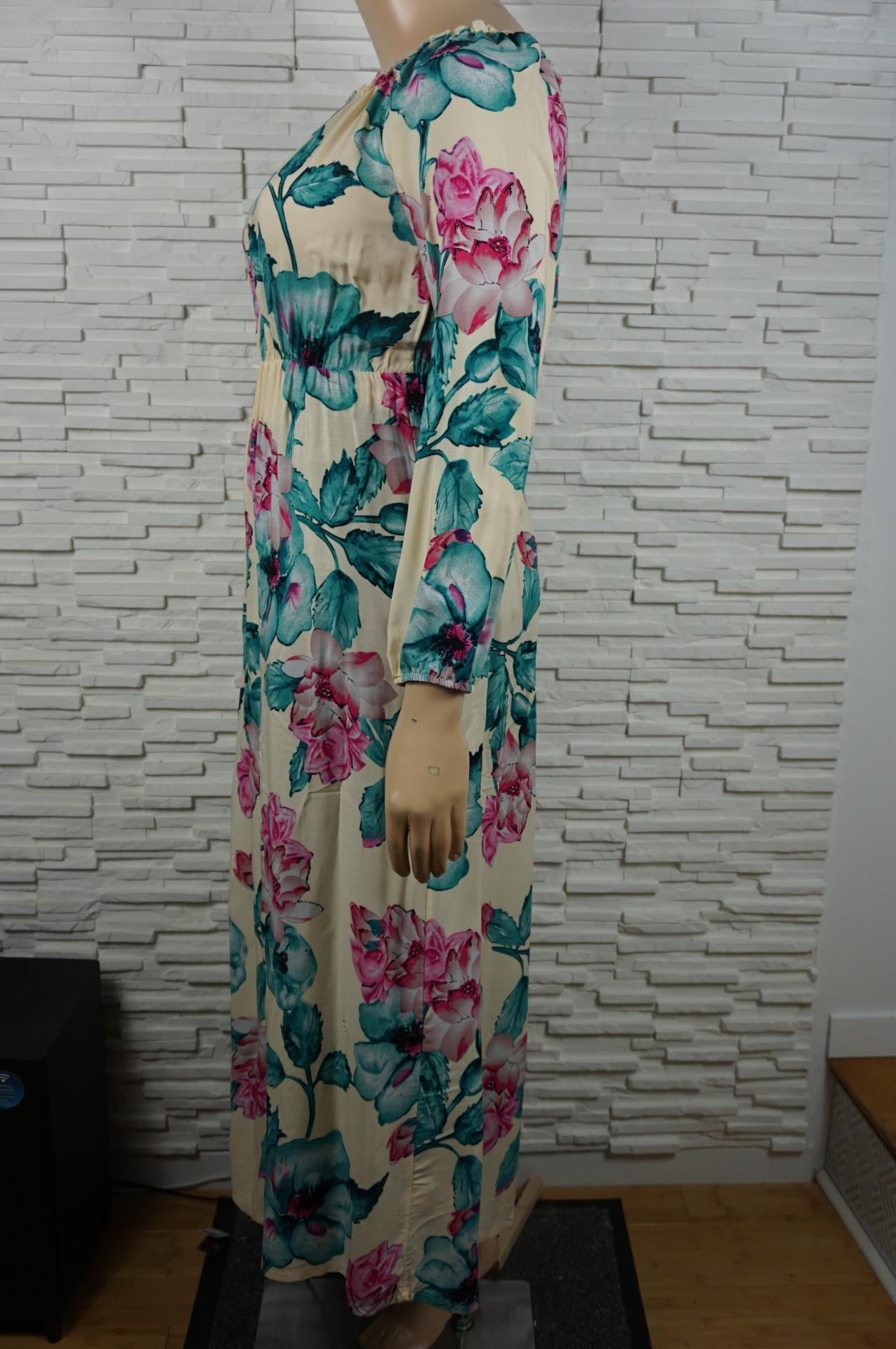 Robe longue a fleurs2