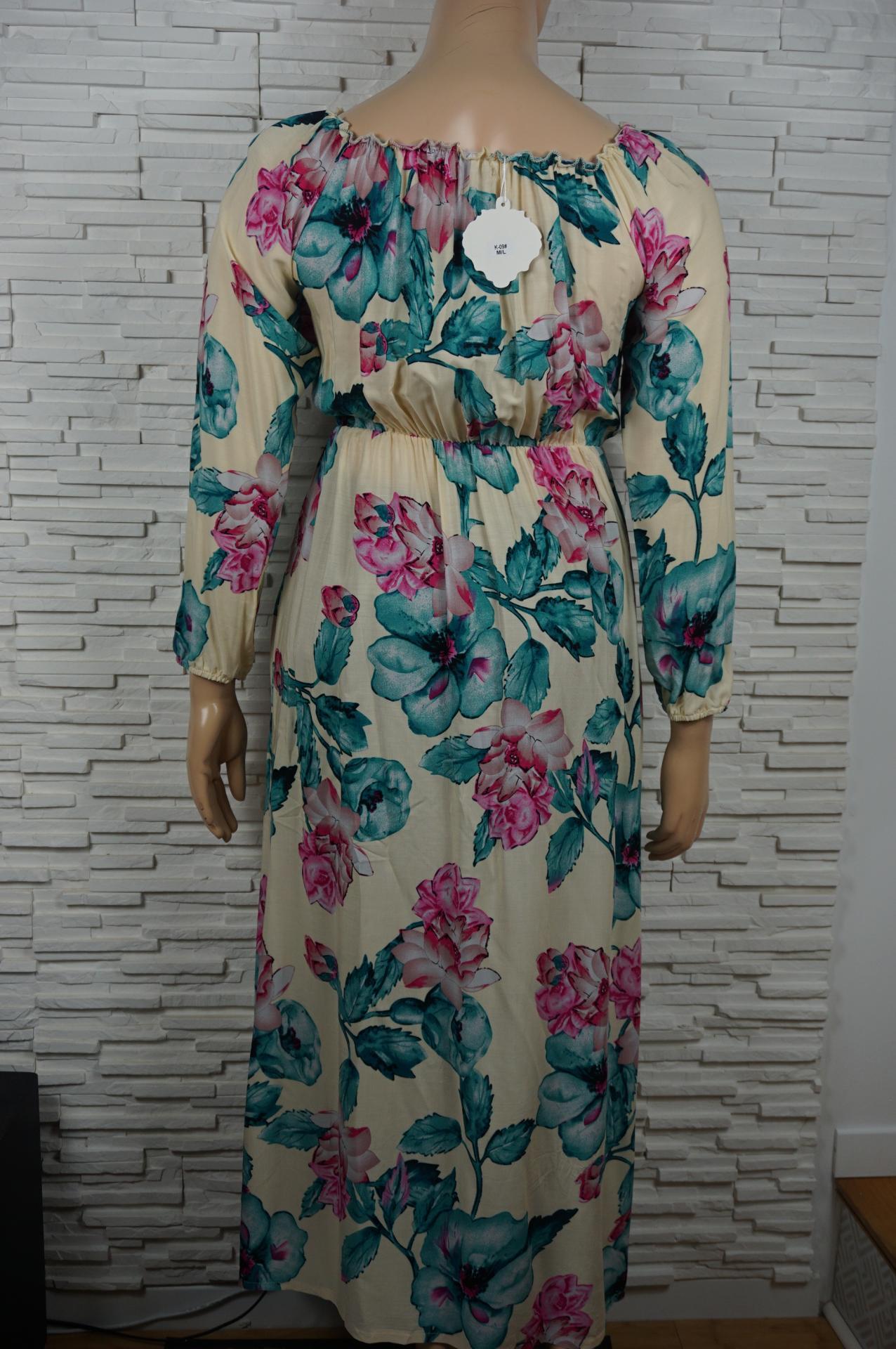 Robe longue a fleurs3