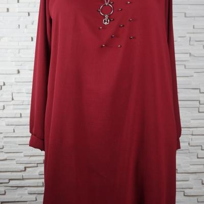 Robe polyester a collier6