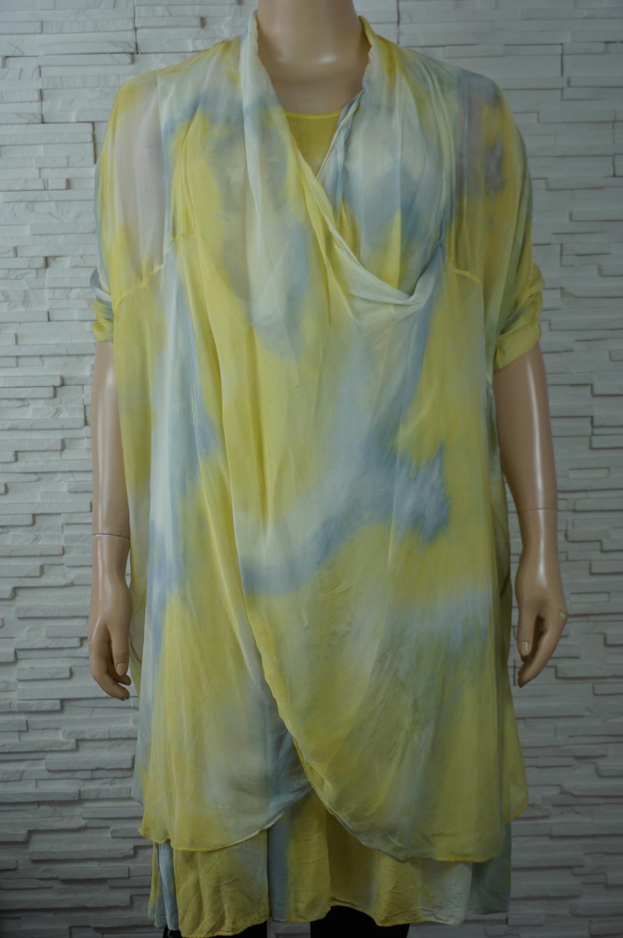 Robe soie longue faux 2pcs1