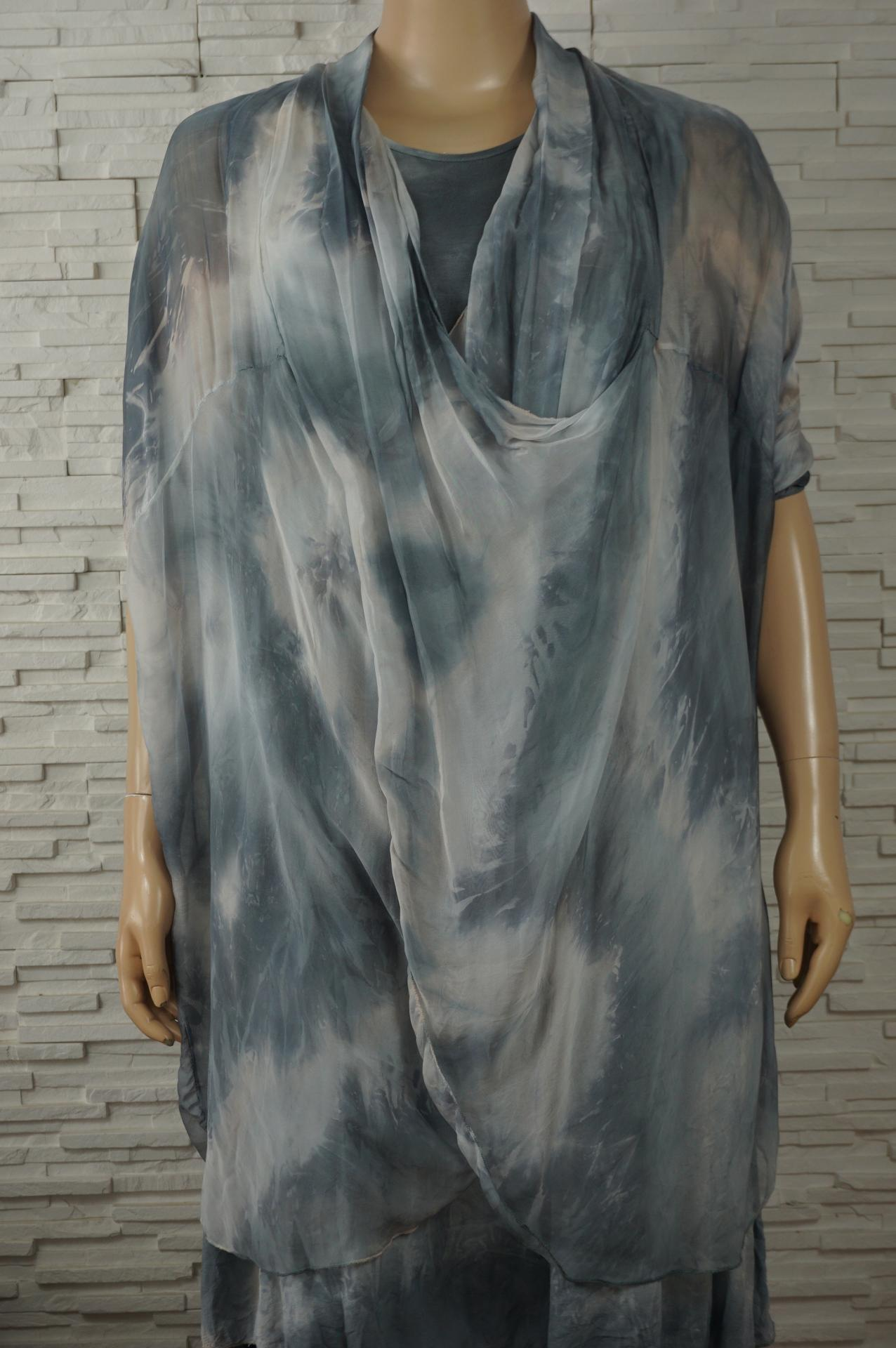 Robe soie longue faux 2pcs3