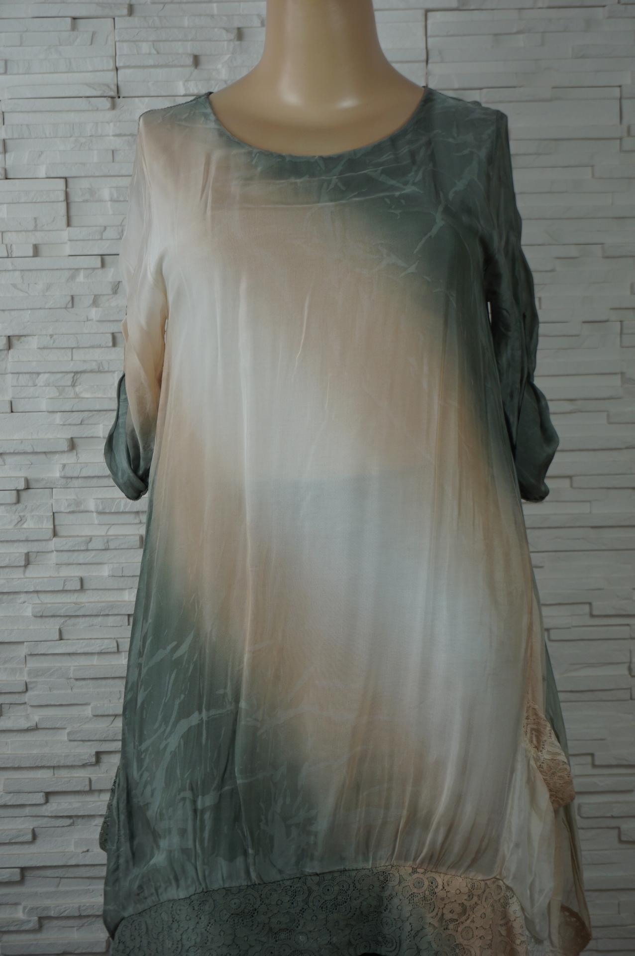 Robe soie longue tye and dye1