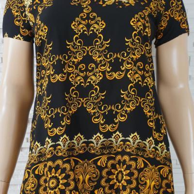 Robe tunique imprime foulard1