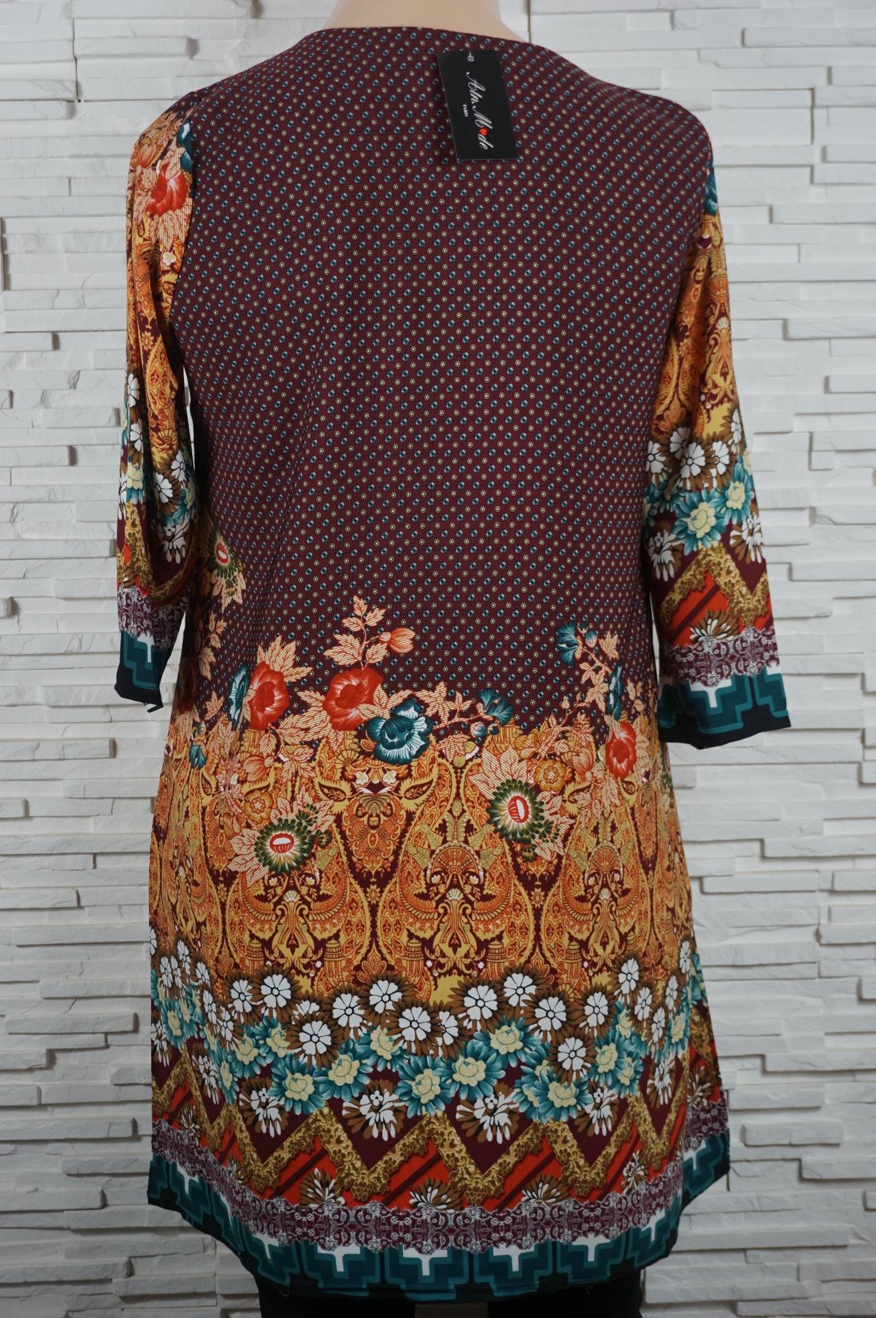 Robe tunique longue a fleurs1