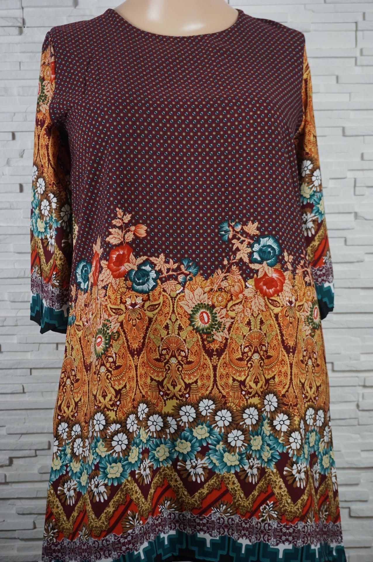 Robe tunique longue a fleurs2