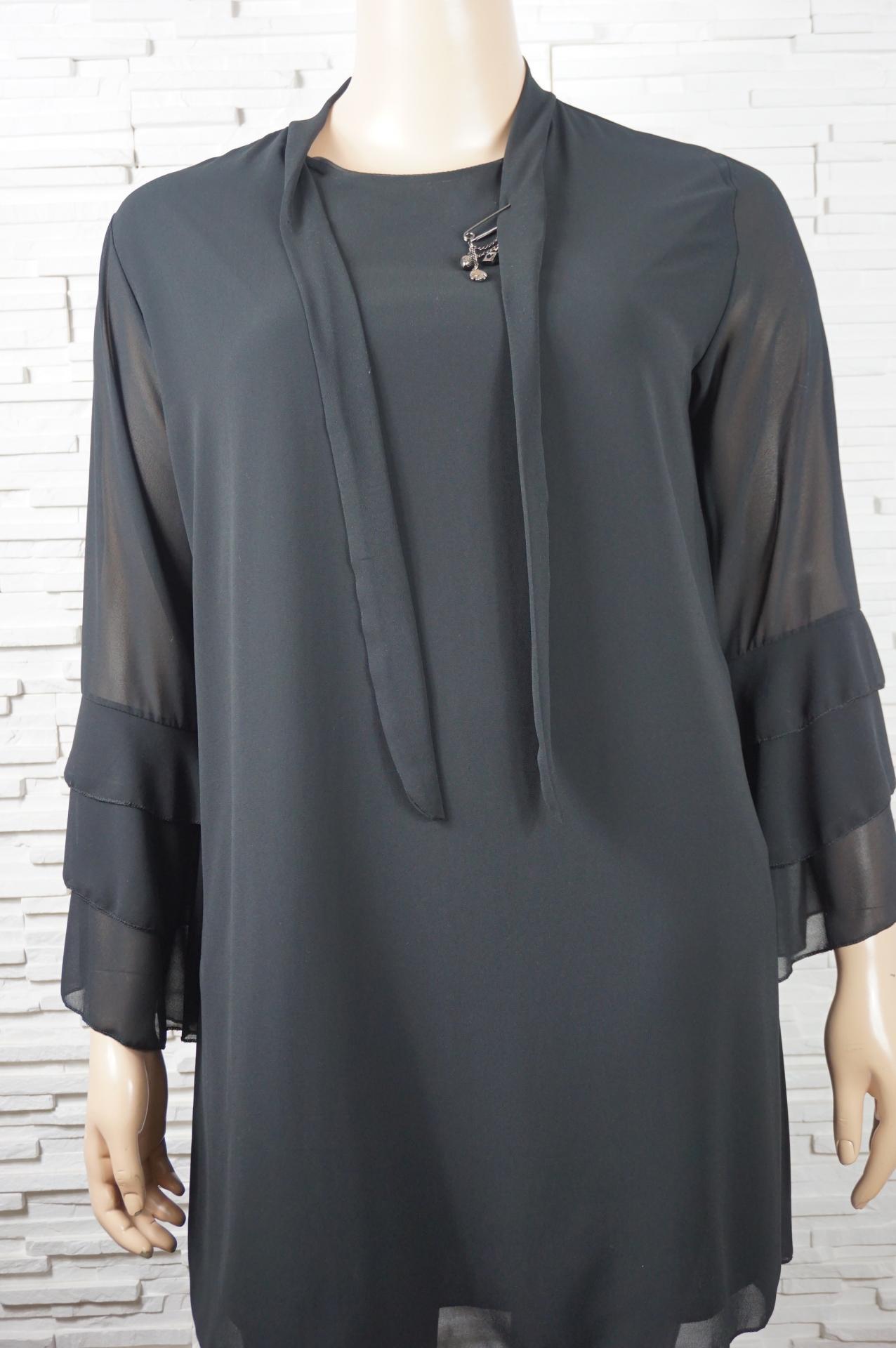Robe tunique longue a liens1