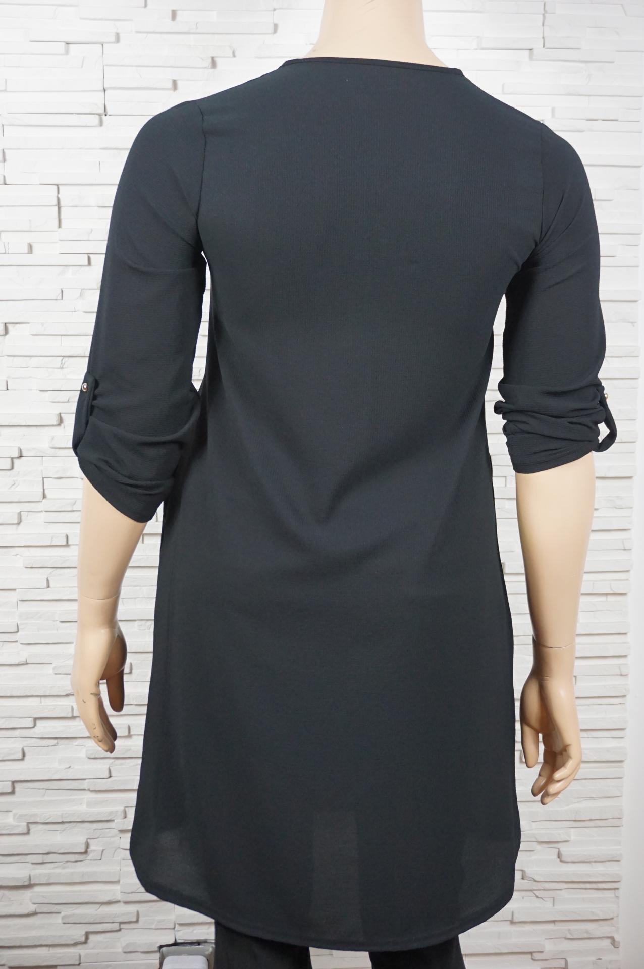 Robe tunique longue col en dentelles2
