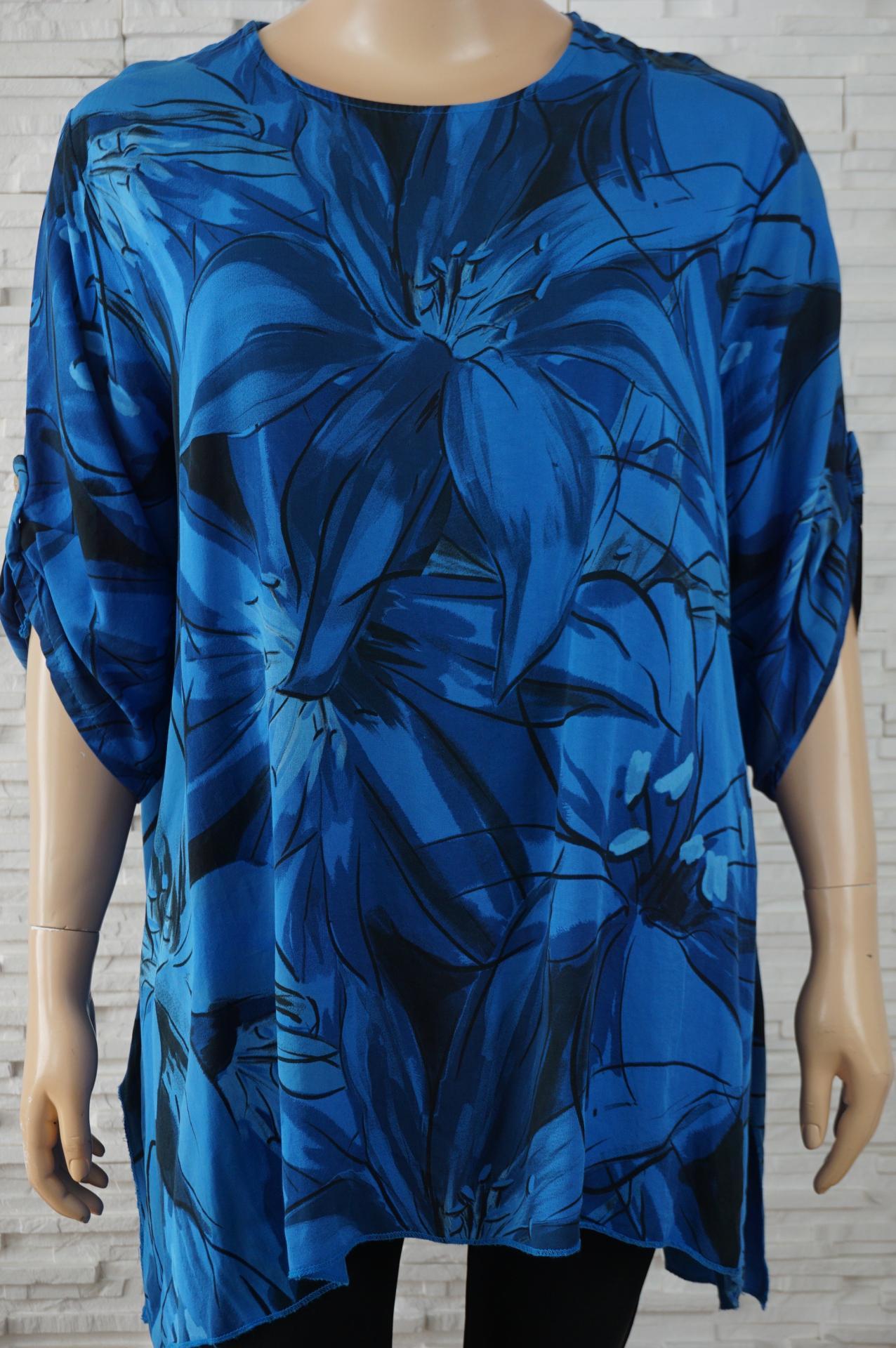 Robe tunique longue coton large a fleurs4