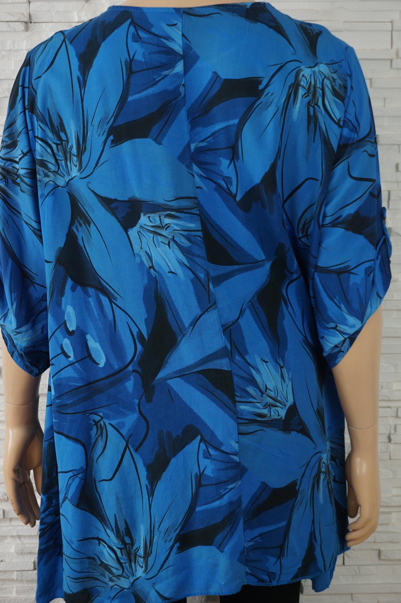 Robe tunique longue coton large a fleurs6