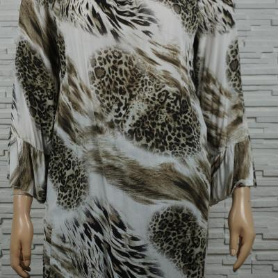 Robe tunique longue imprime animal1