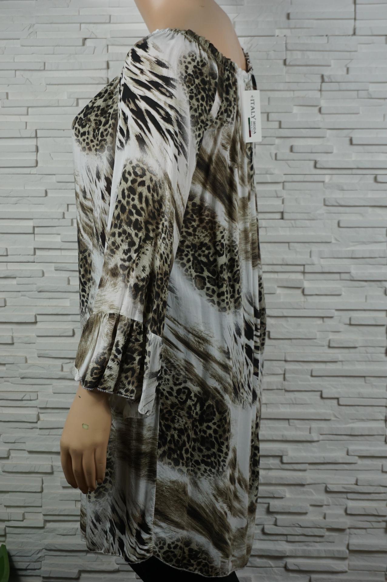 Robe tunique longue imprime animal2