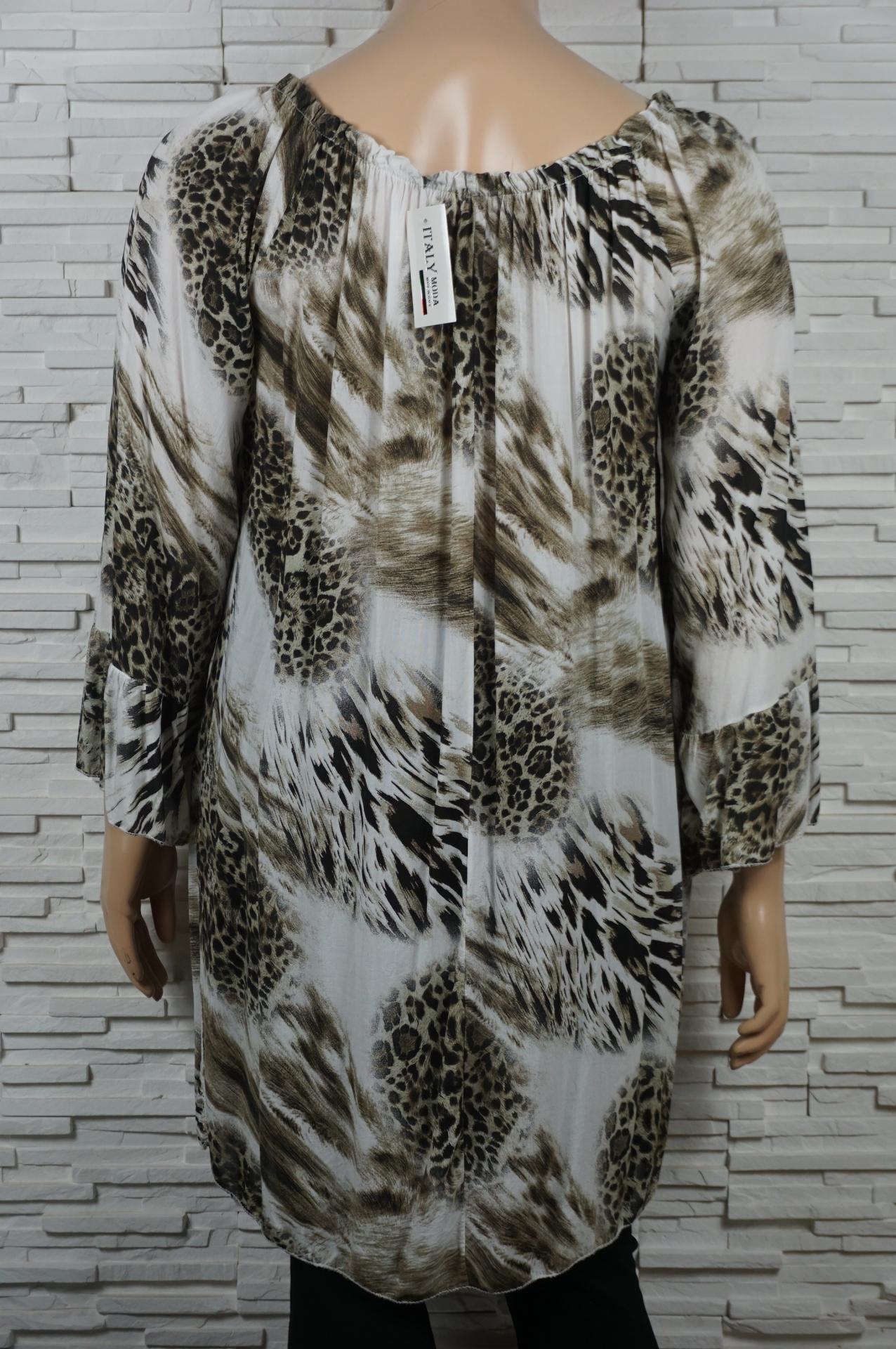 Robe tunique longue imprime animal3
