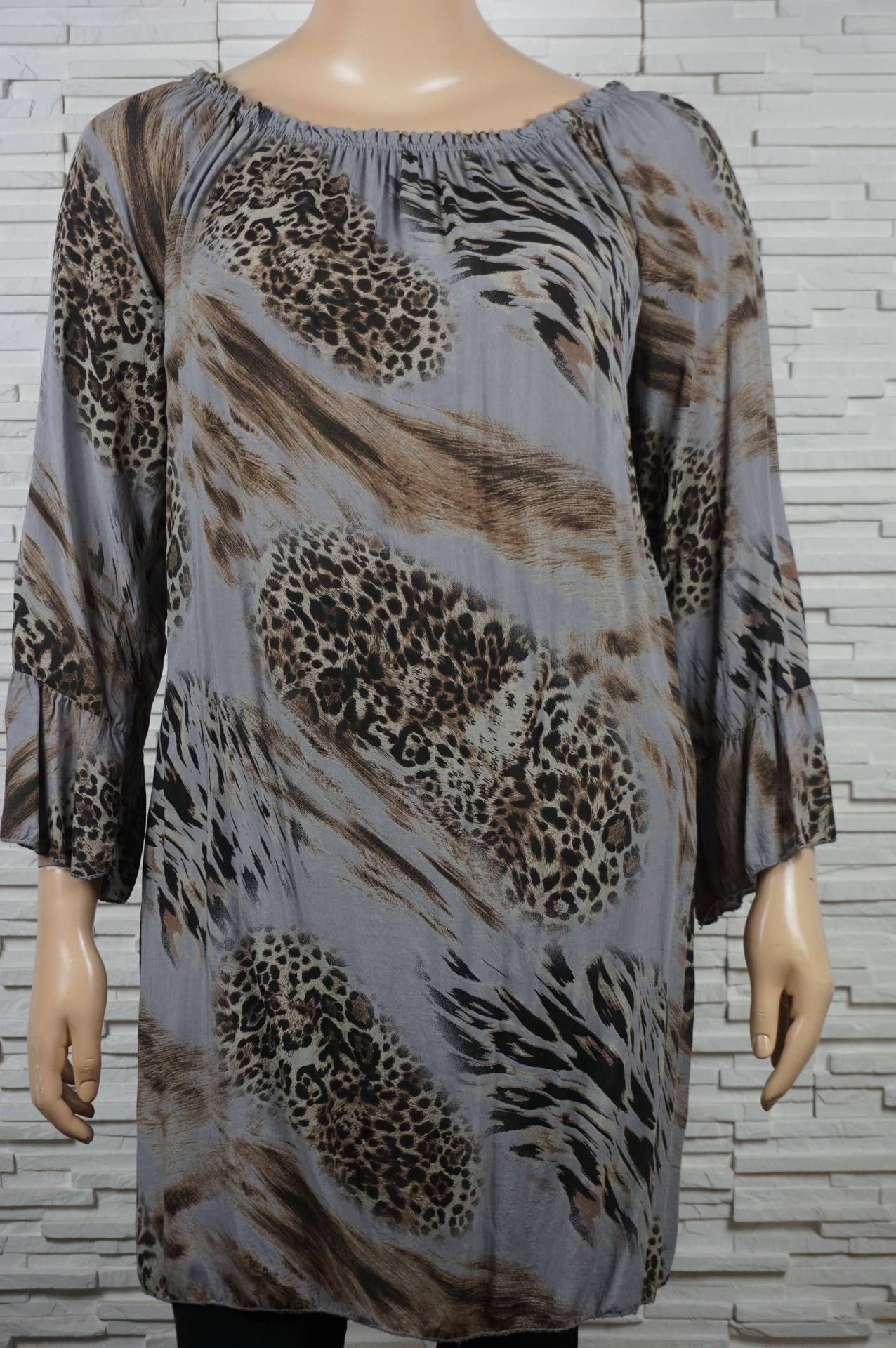 Robe tunique longue imprime animal4