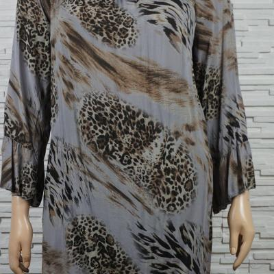 Robe tunique longue imprime animal4