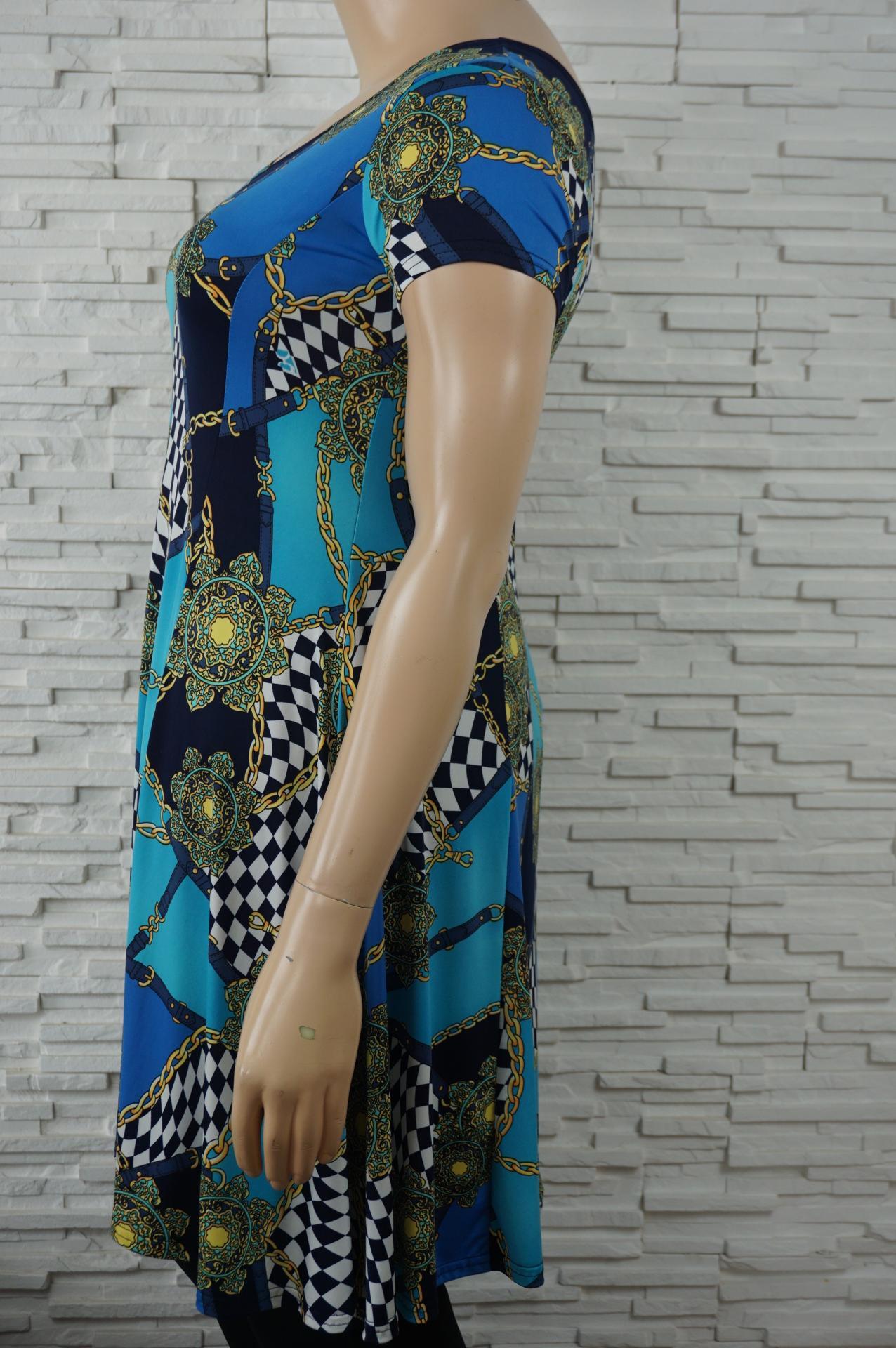 Robe tunique longue lycra fleurs5