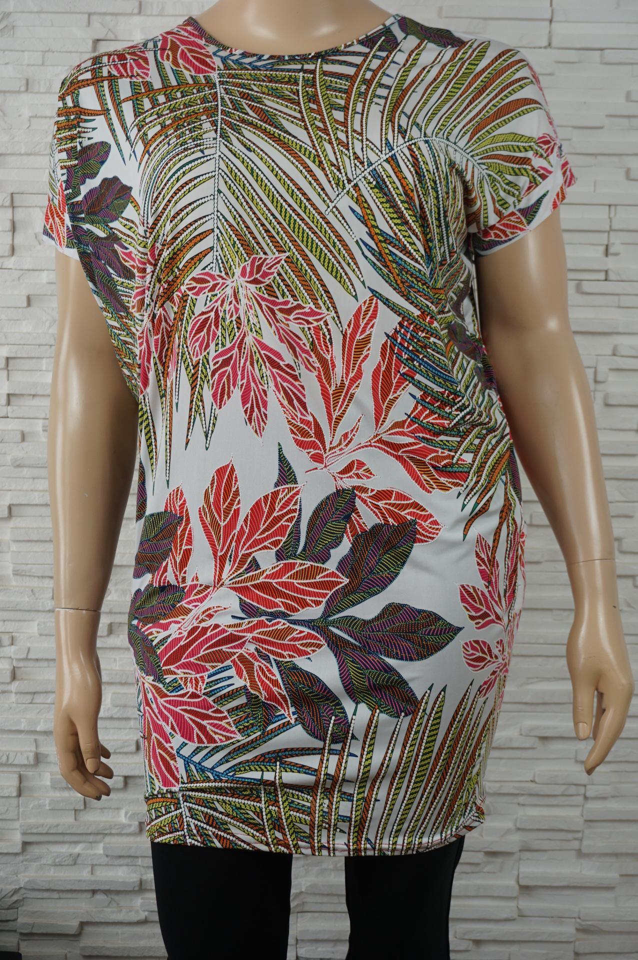 Robe tunique longue lycra fleurs7