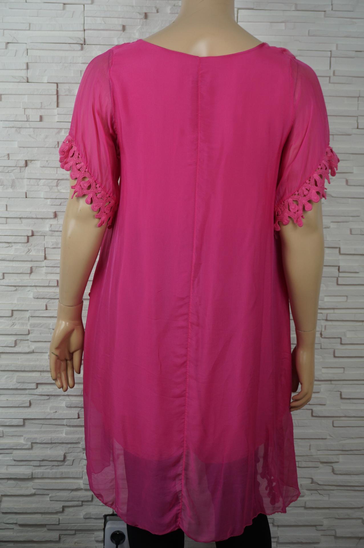 Robe tunique longue soie asyme trique2