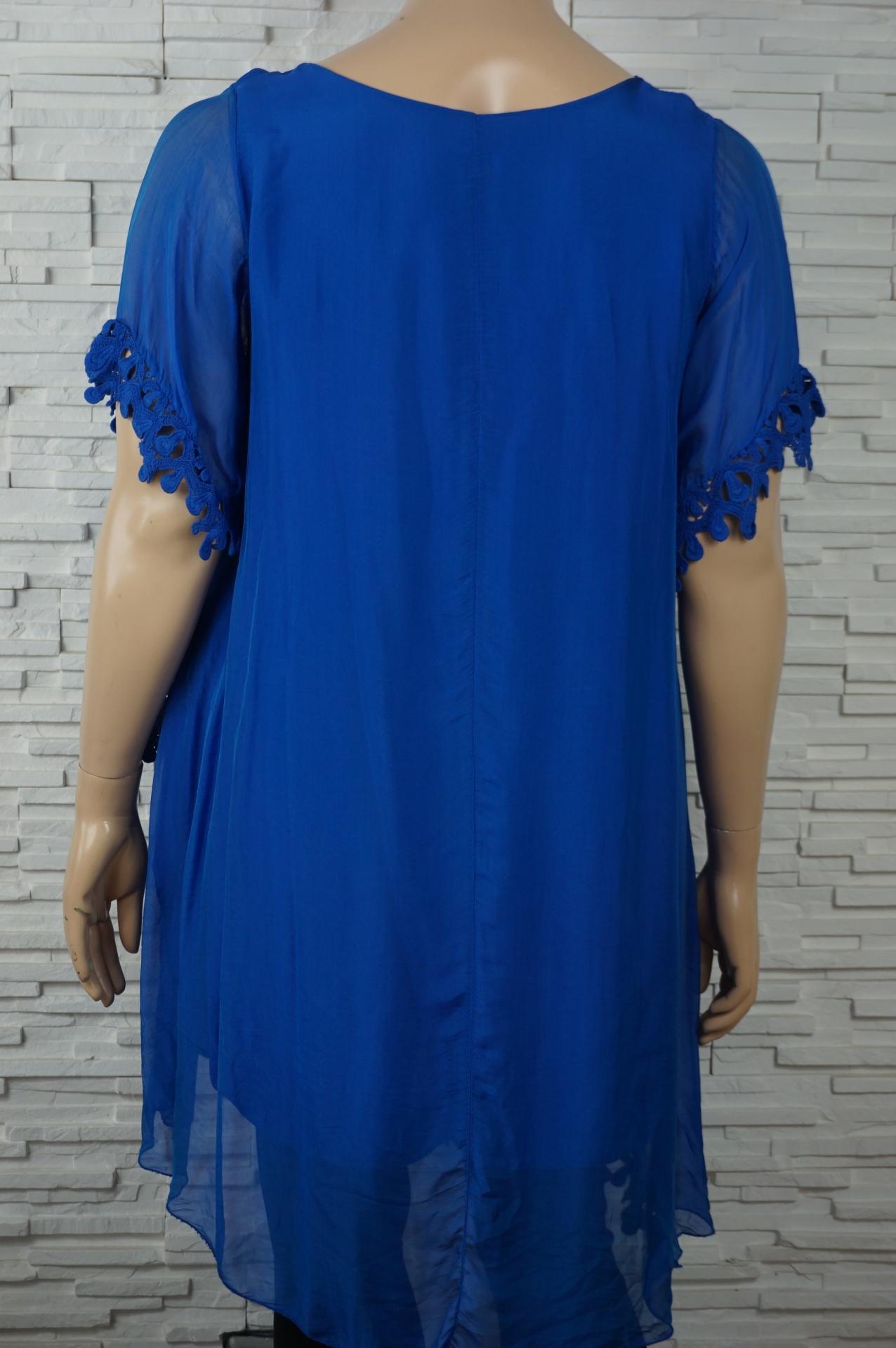 Robe tunique longue soie asyme trique6