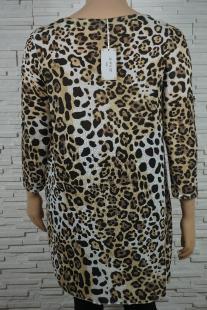 Robe tunique longue trapeze en leopard avec collier 335 1 207x310
