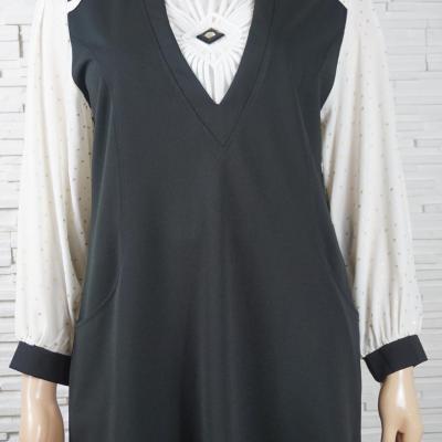 Robe vintage noir et blanc3