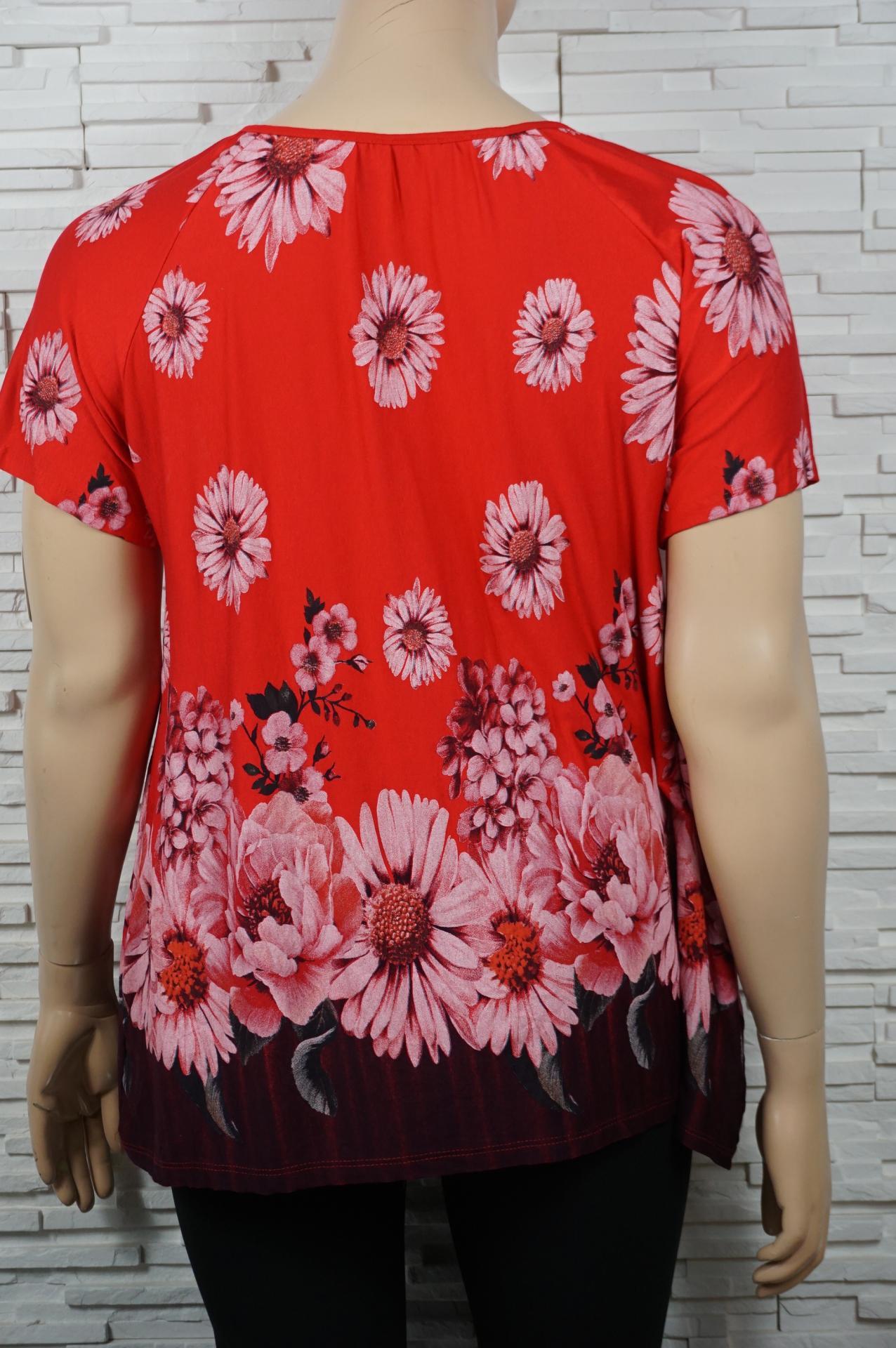 T shirt a cordon et imprime florales2