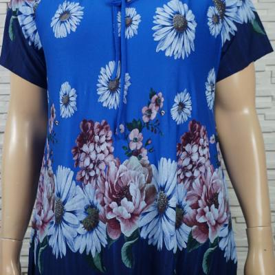 T shirt a cordon et imprime florales3