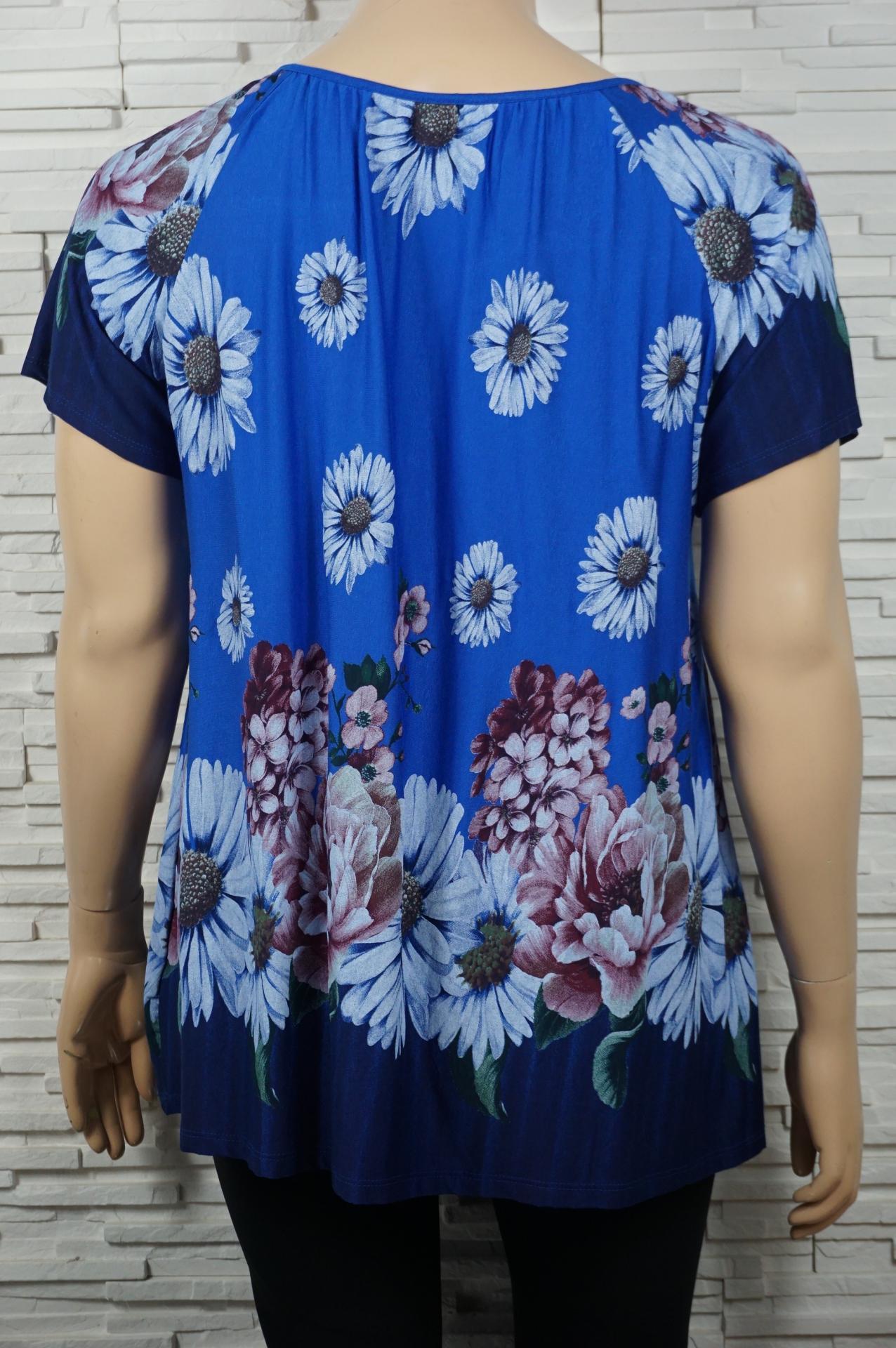 T shirt a cordon et imprime florales4