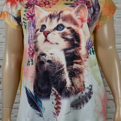 T shirt a motif chat3
