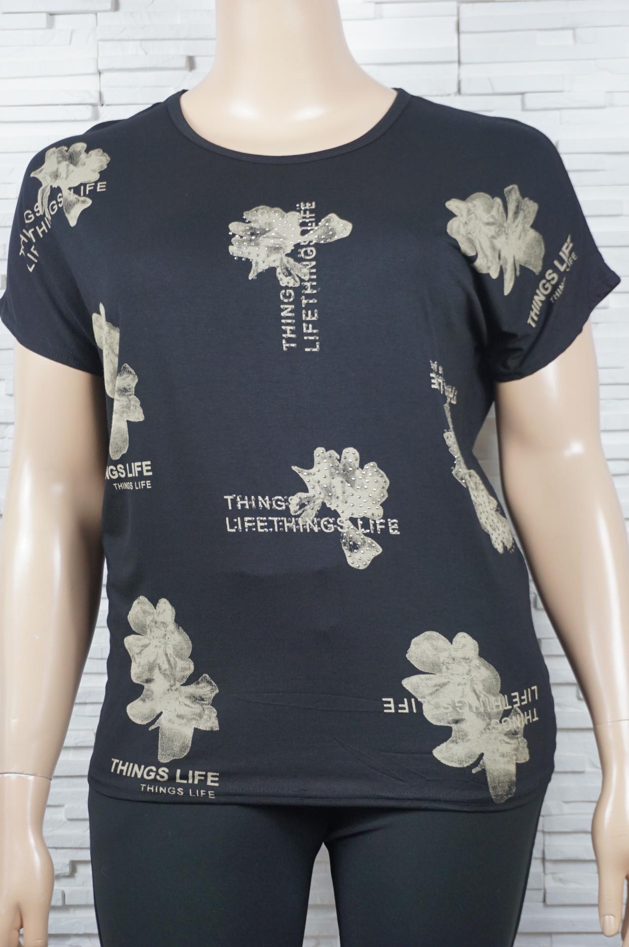 T shirt coton imprime fleurs1