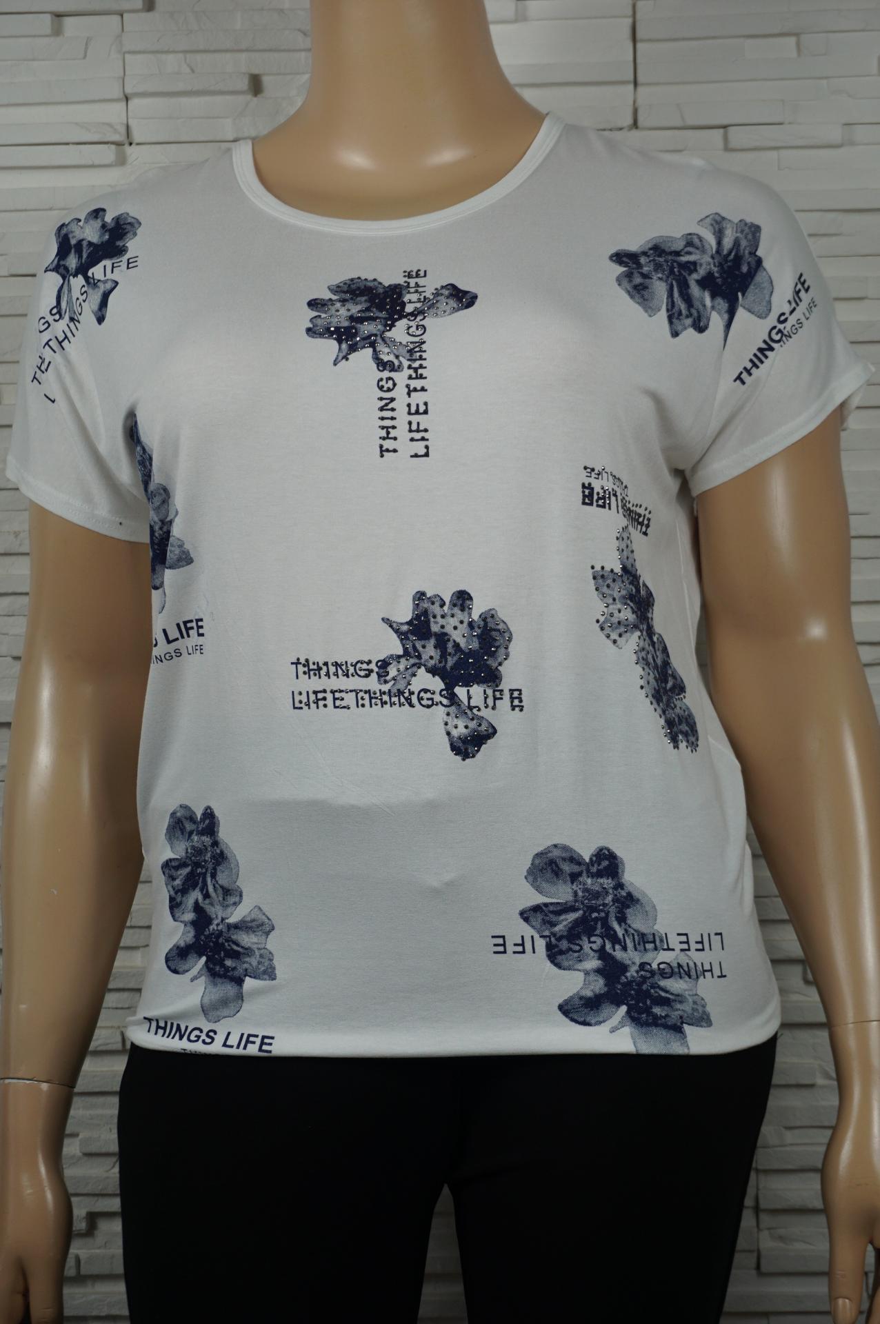 T shirt coton imprime fleurs3