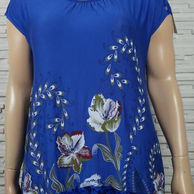 T shirt long imprime fleurs5