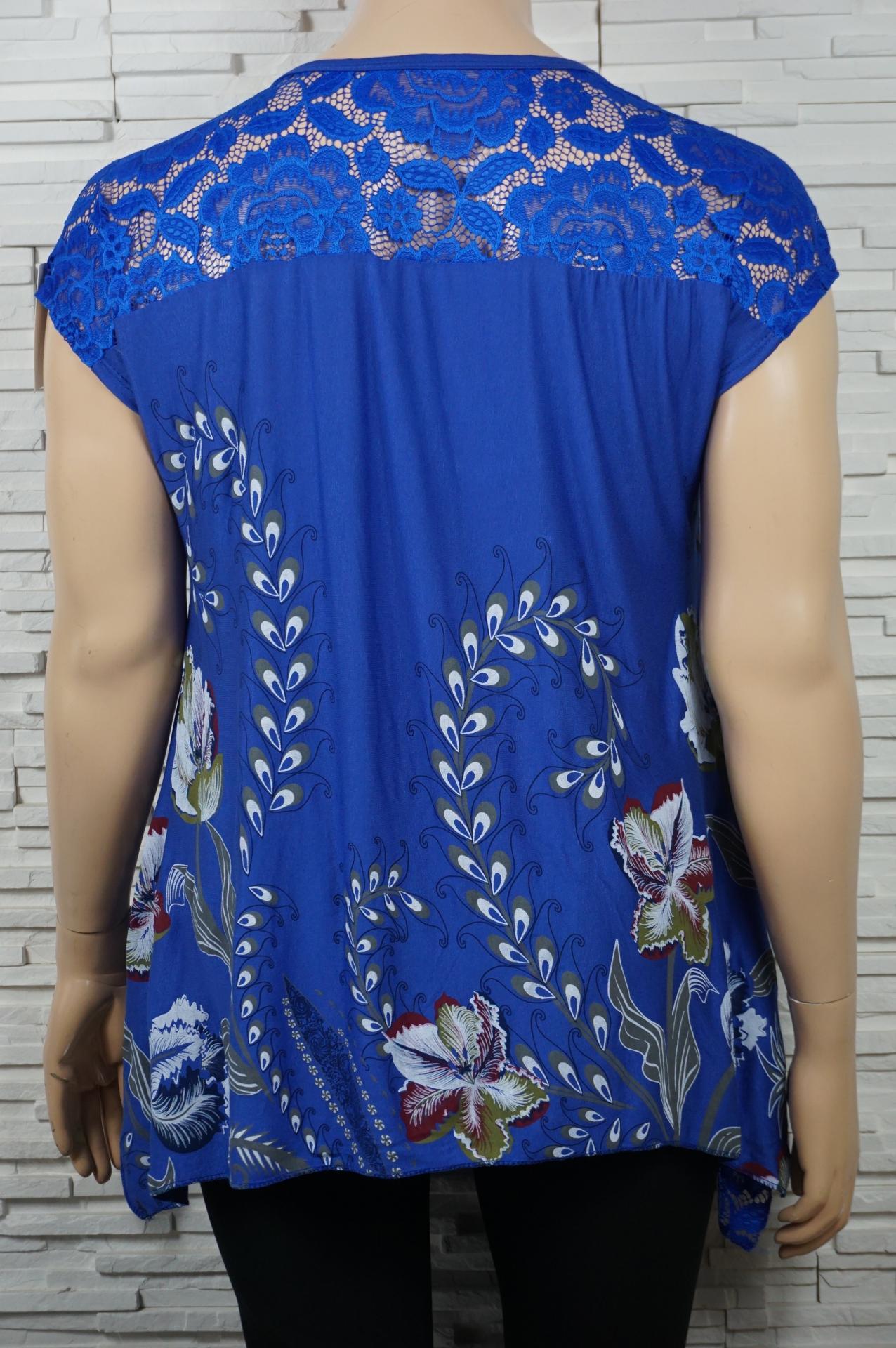 T shirt long imprime fleurs6