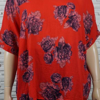 Tunique coton a fleurs1