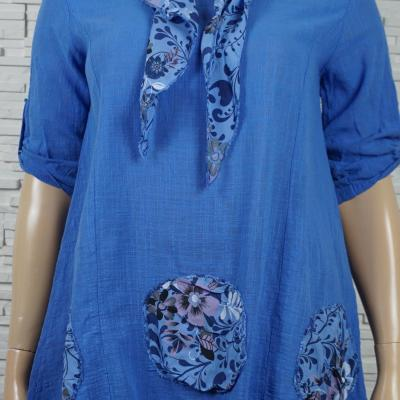 Tunique coton avec foulard3