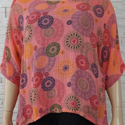 Tunique coton poncho imprime 5