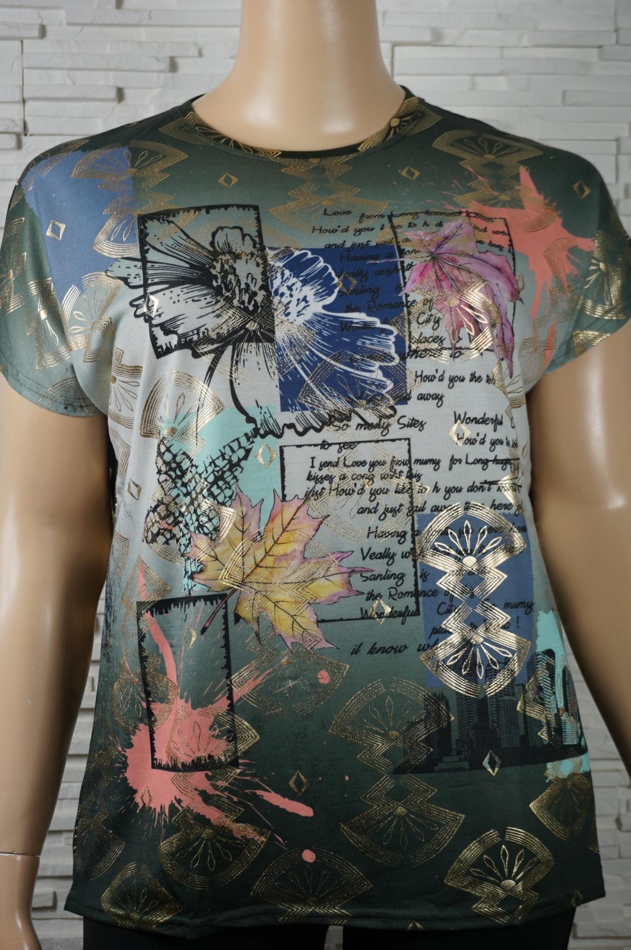 Tunique imprime floral et dore 1