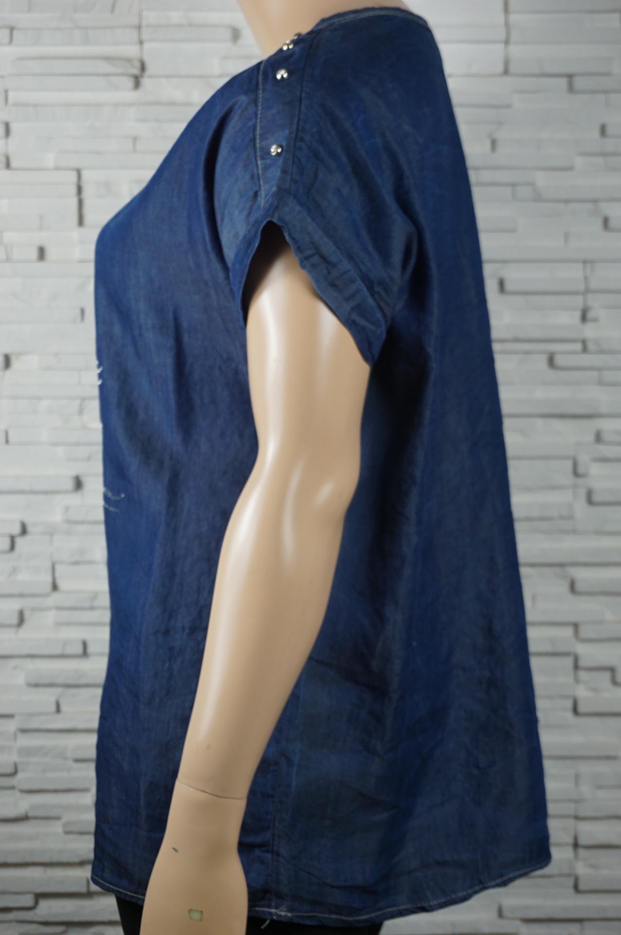 Tunique jean mouette en strass5