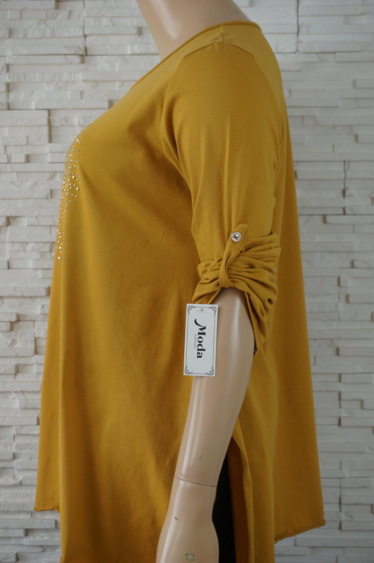 Tunique longue coton avec coeur en strass2