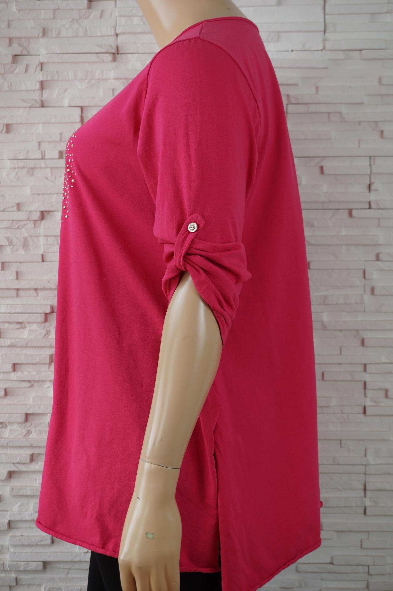 Tunique longue coton avec coeur en strass5