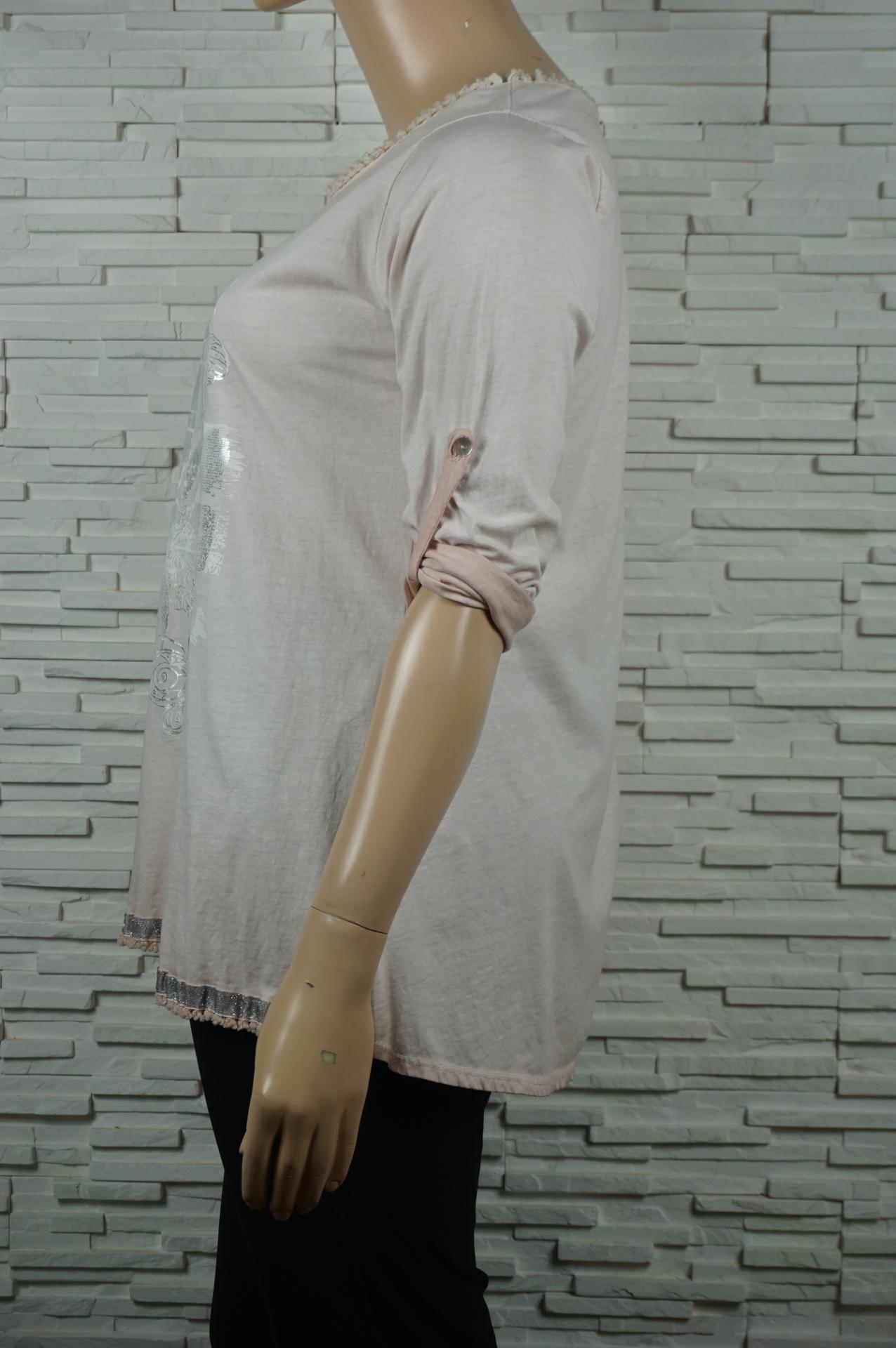 Tunique longue coton motif argent2