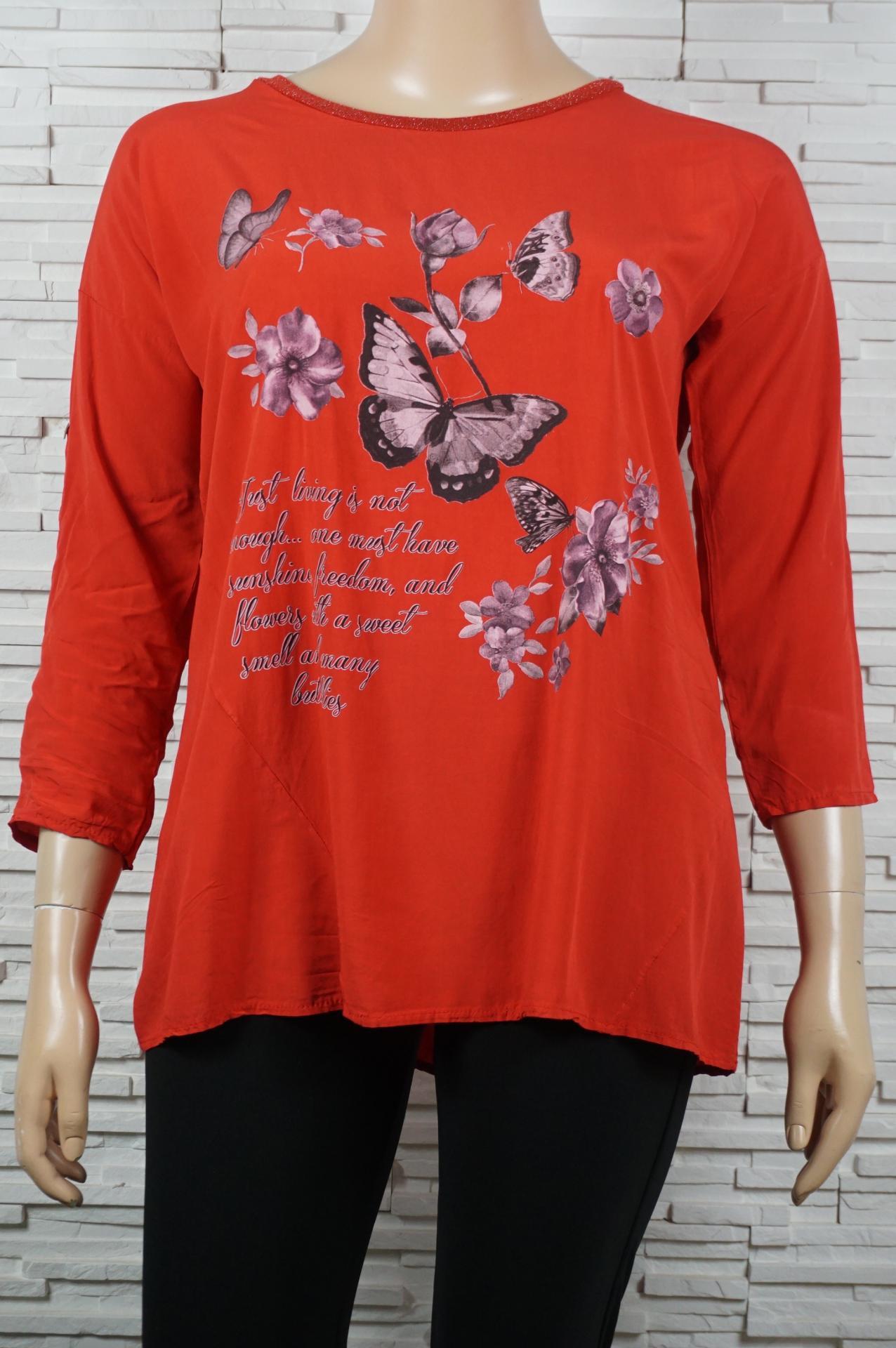 Tunique longue coton papillons et fleurs1
