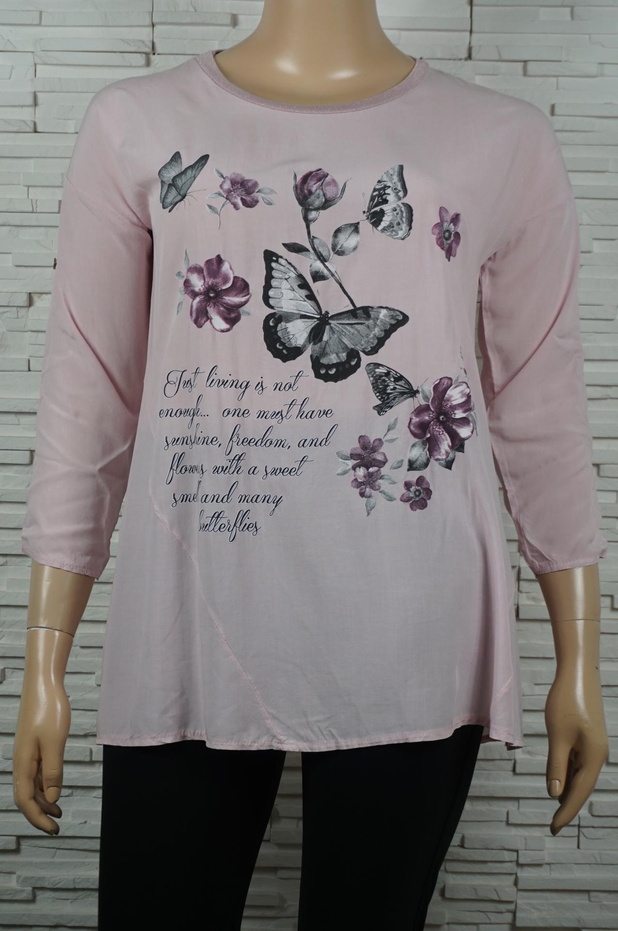 Tunique longue coton papillons et fleurs4